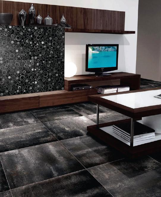 Itc Vogue Silver Black Bronze 12x24 Porcelain Floor Wall Tile